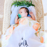 Orange Blossoms - Organic Swaddle Blanket