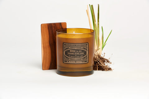 Mahogany + Vetiver Winter Candle