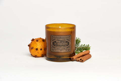Pine + Pomander Winter Candle