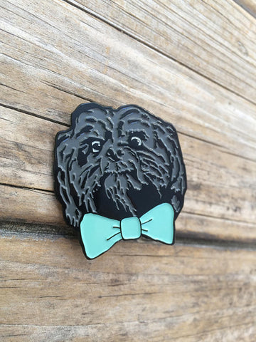 Bow Tie Dog Enamel Pin