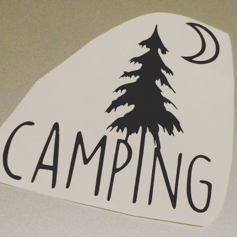 Camping Vinyl Decal