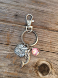 Mermaid Dreaming of the Sea Keychain