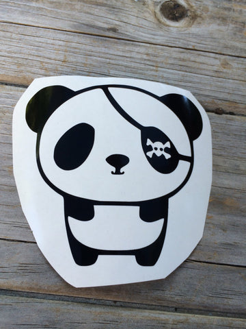 Pirate Panda Vinyl Decal