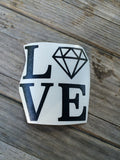 Love Diamond Vinyl Sticker