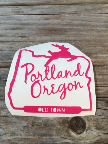 Portland Oregon Vinyl Decal