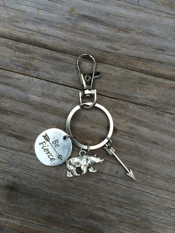 Be Fierce Charm Keychain