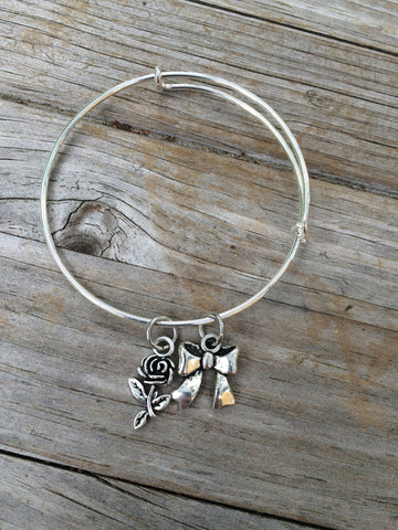 Rose and Bow bracelet