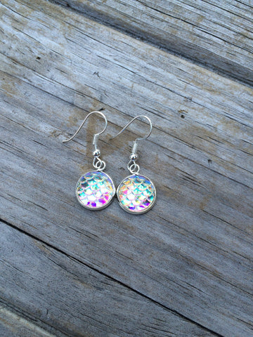 White Mermaid Earrings