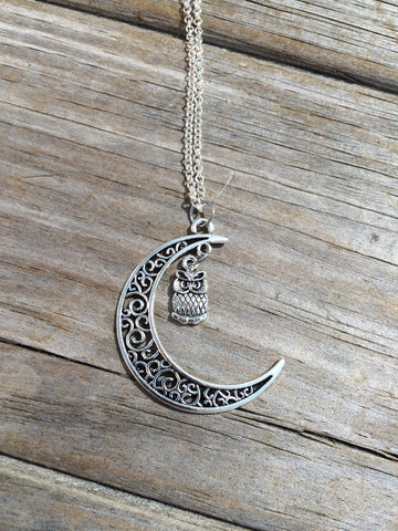 Moon Owl necklace