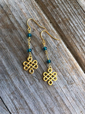 Endless Knot Charm Earrings
