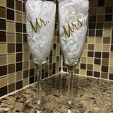Vinyl Decals for Champagne Glasses