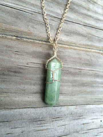 Aventurine Raw Crystal Necklace