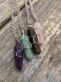 Amethyst Raw Crystal Necklace
