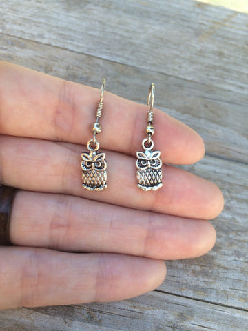 Simple Owl Earrings