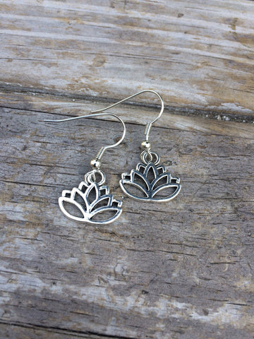 Simple Lotus Earrings