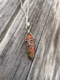 Natural Unakite Jasper Necklace