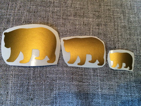 Bear Family Vinyl Decals Vinyl Stickers