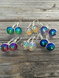 Yellow Mermaid Scale Earrings