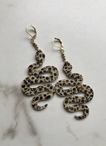 Spotted Snake Earrings