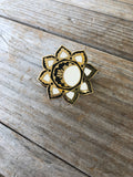 Gold Moon Mandala Enamel Pin