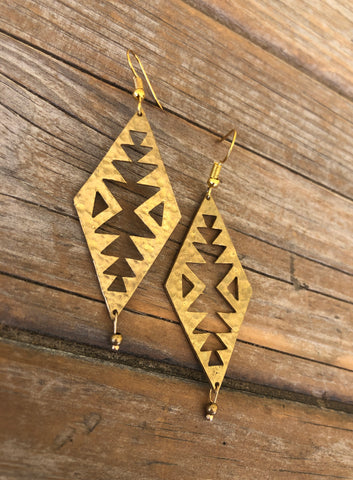 Brass Boho Earrings
