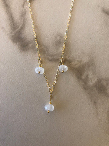3 Moonstone Necklace
