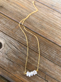 Delicate Moonstone Necklace