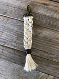 Macrame Square Knot Keychain