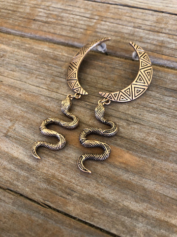 Mojave Moon Snake Earrings