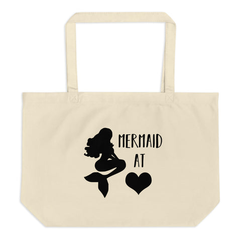 Mermaid at Heart Large organic tote bag
