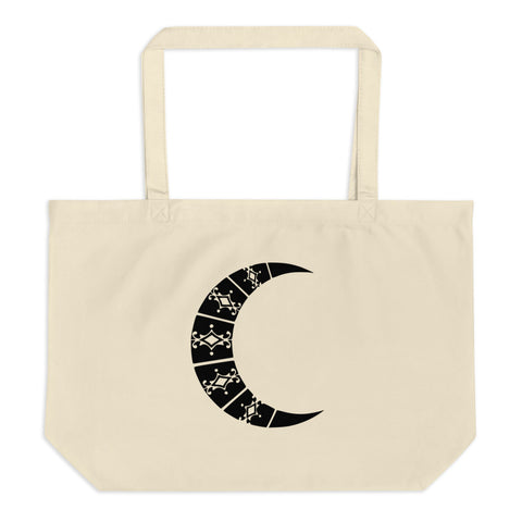 Moon Large organic tote bag