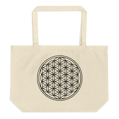 Seed of Life Large organic tote bag