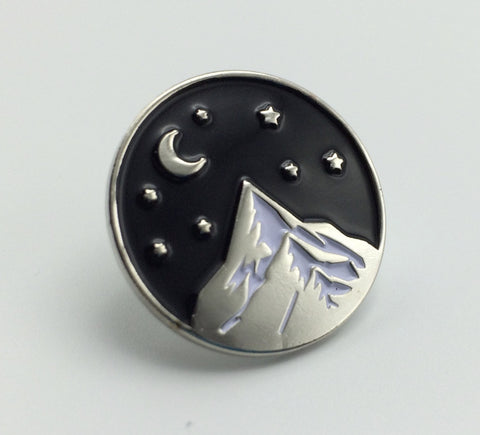 Silver Mountain Enamel Pin