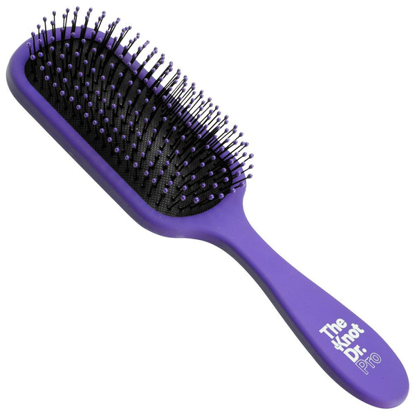 The Knot Dr. Pro Brite Hybrid Detangler Paddle Brush Periwinkle Purple