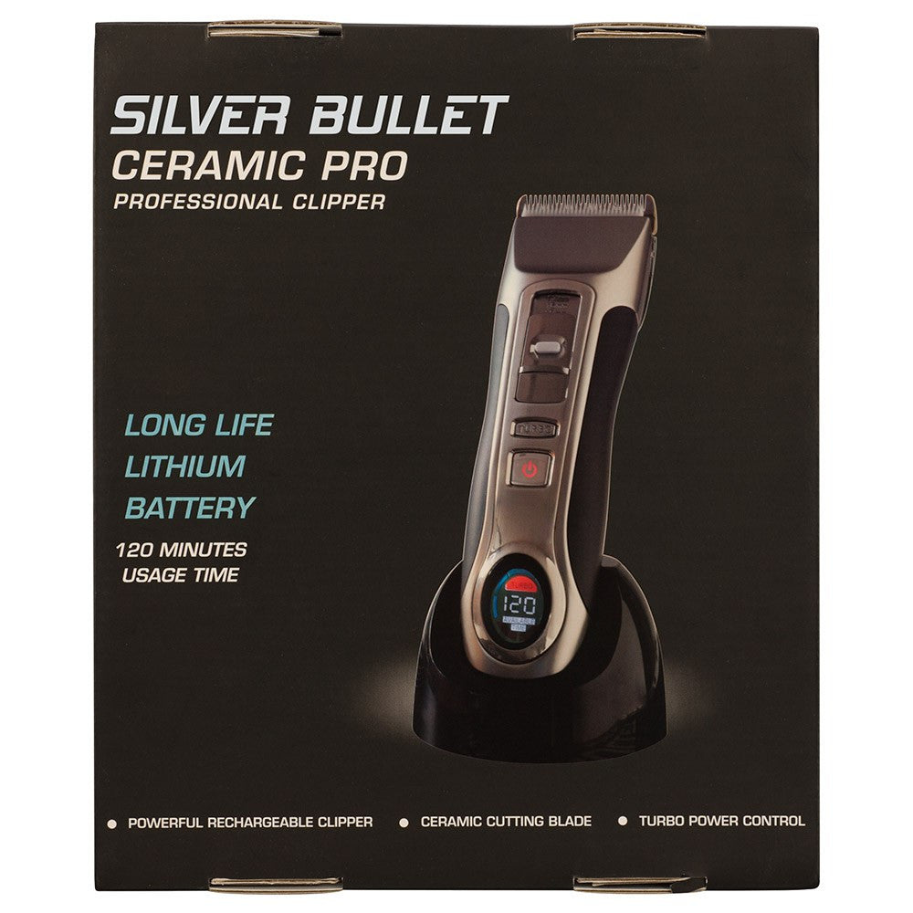 Silver Bullet Ceramic Pro Cordless Hair Clipper Lithium Battery