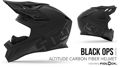 509 Altitude Carbon Fiber Snow Helmet with Fidlock® BLACK OPS