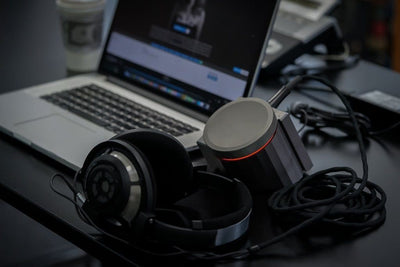 Shown with optional computer and headphones