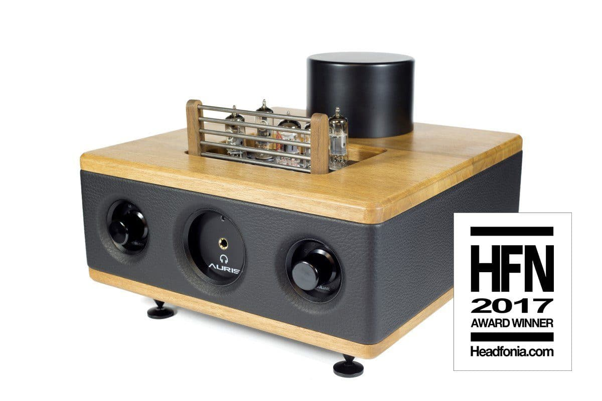 Auris HA2 SE tube headphone amp, leather & wood housing