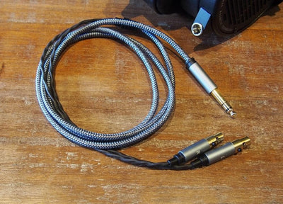 dual mini xlr connectors, 1.5m cable, 6.5mm plug
