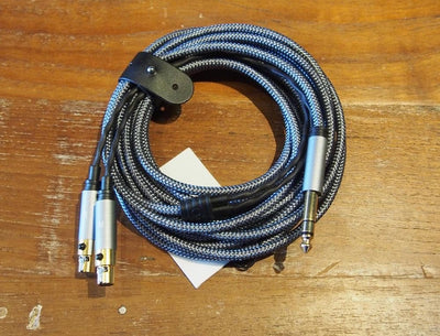 5m cable fits Audeze LCD headphones