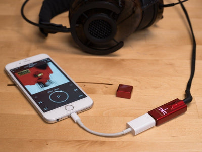 Audioquest Dragonfly Red usb dac used with iphone and adsptor