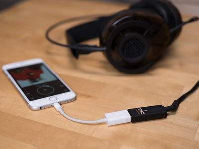 Audioquest Dragonfly Black - add an adaptor to use with phones