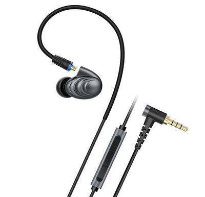 Fiio F9 Pro, with 1 3.5mm cable with inline mic, right angle plug
