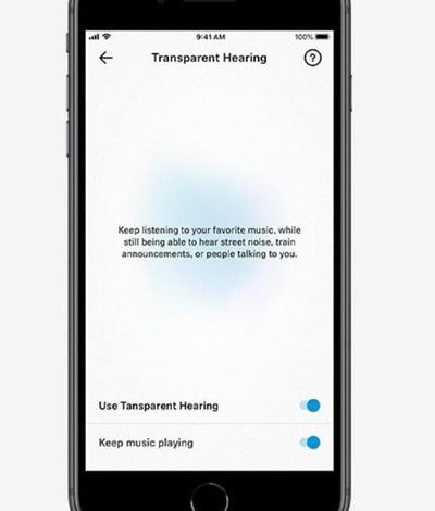 True Wireless transparency feature in Smart Control app