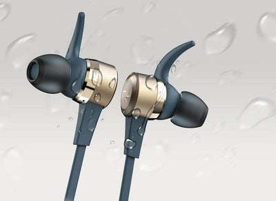 Nuforce Be Live5 IPX5 water resistant bluetooth earphones