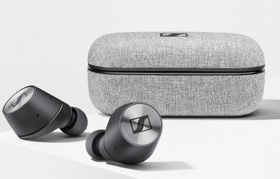 Sennheiser Momentum True Wireless earphones, fabric charging case