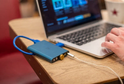 ifi hip usb dac, shown with computer, not included