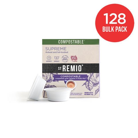 SUPREME - Lavazza A Modo Mio®* Compostable Capsules - 128 Capsule BULK PACK - COMING SOON