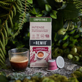 INTENSE - Nespresso®* Compostable  Capsules.
