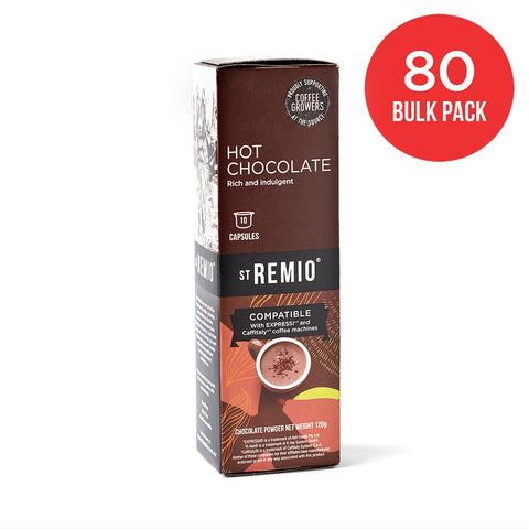 HOT CHOCOLATE - Expressi®* / Caffitaly®* Compatible 80 Capsule BULK PACK